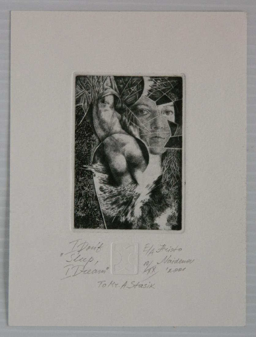 Hristo Naidenov 4 Miniature etchings - 6