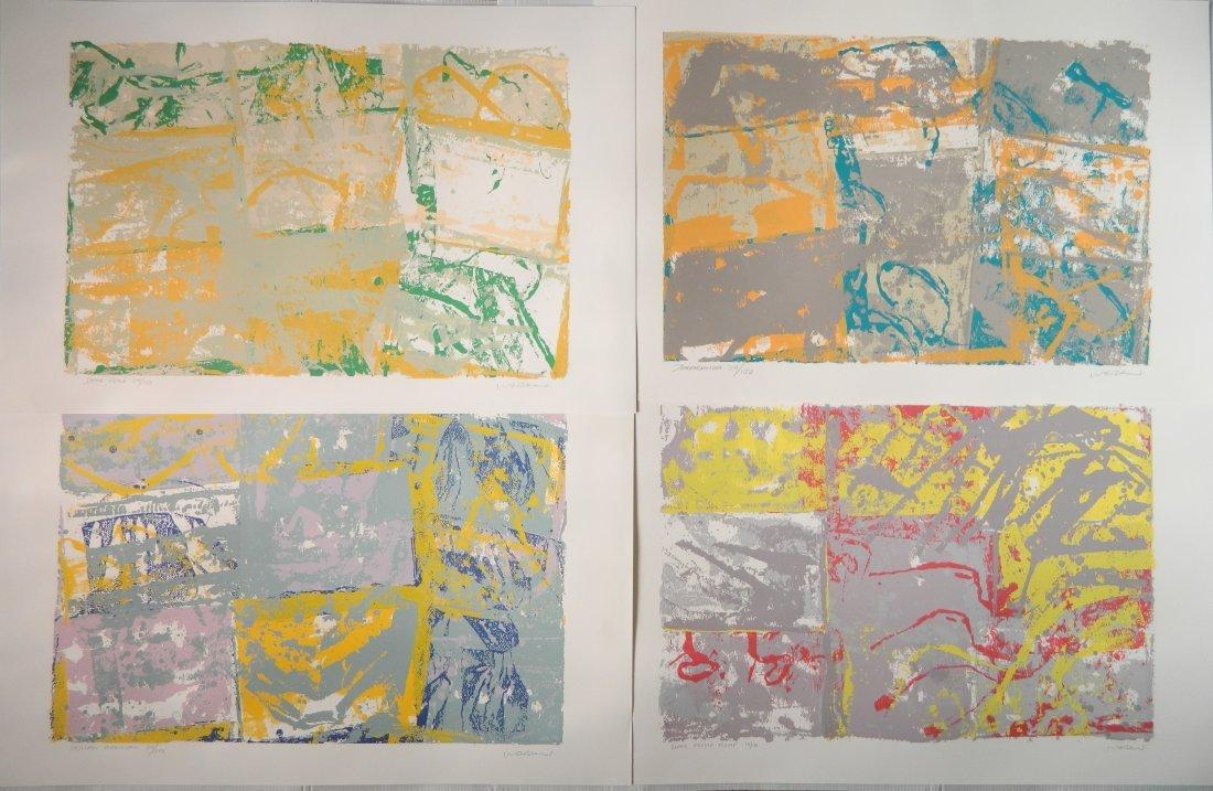 Walter Darby Bannard 4 silkscreens
