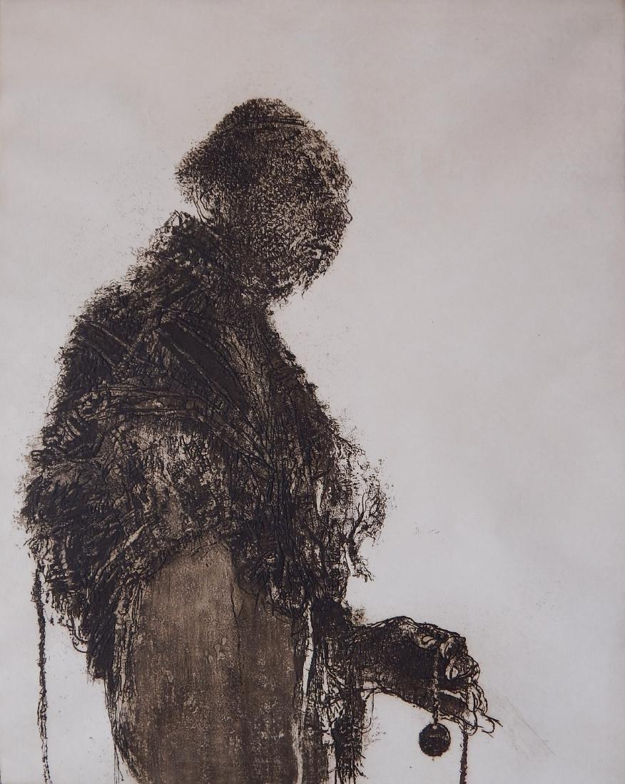 Harvey Breverman etching and aquatint