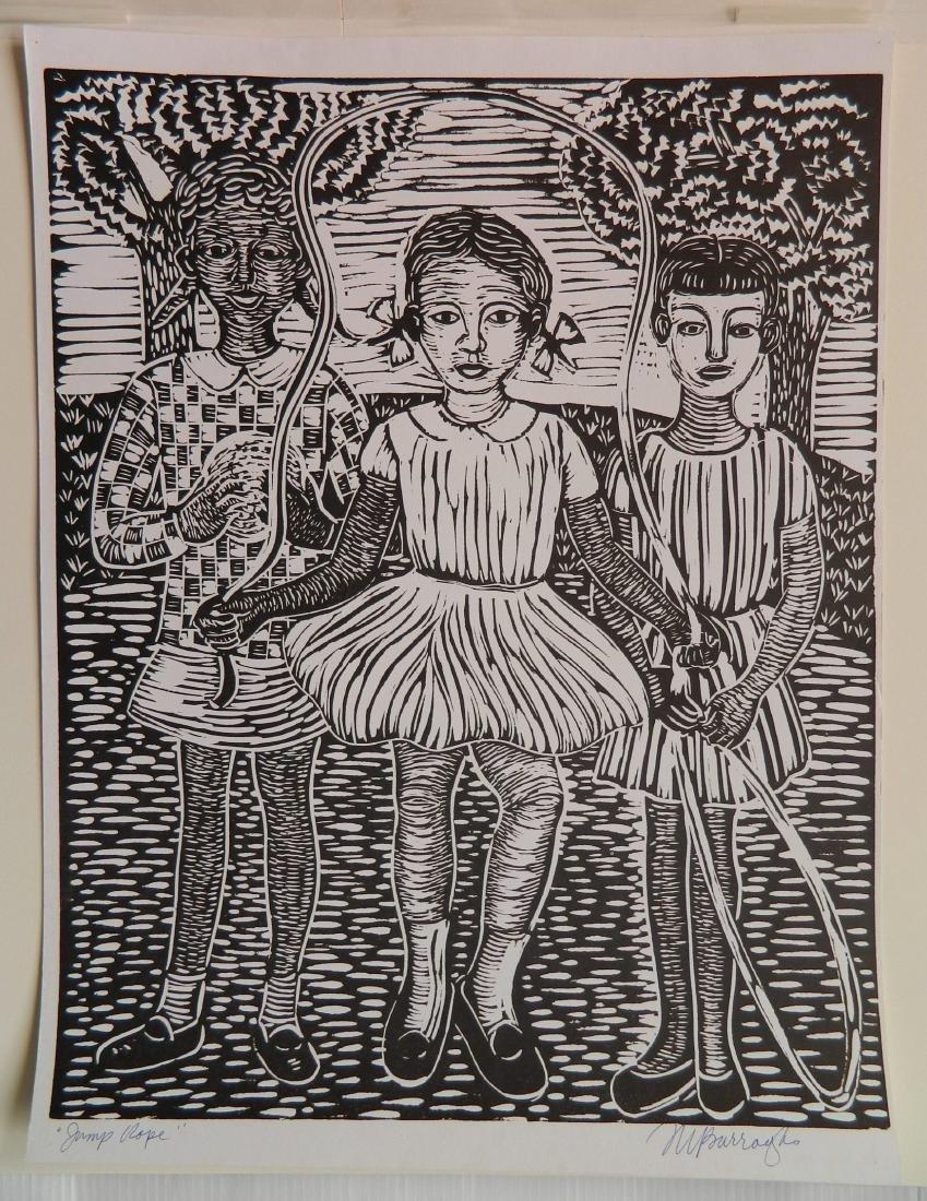 Margaret T. Burroughs linocut - 2
