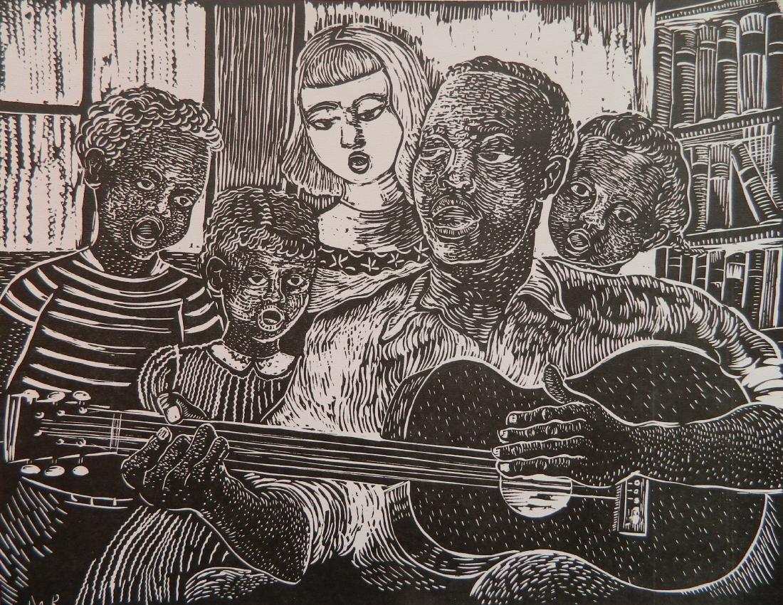 Margaret T. Burroughs linocut
