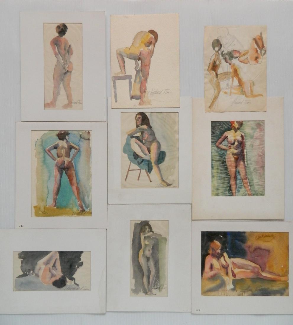 Hilliard Dean 9 watercolors