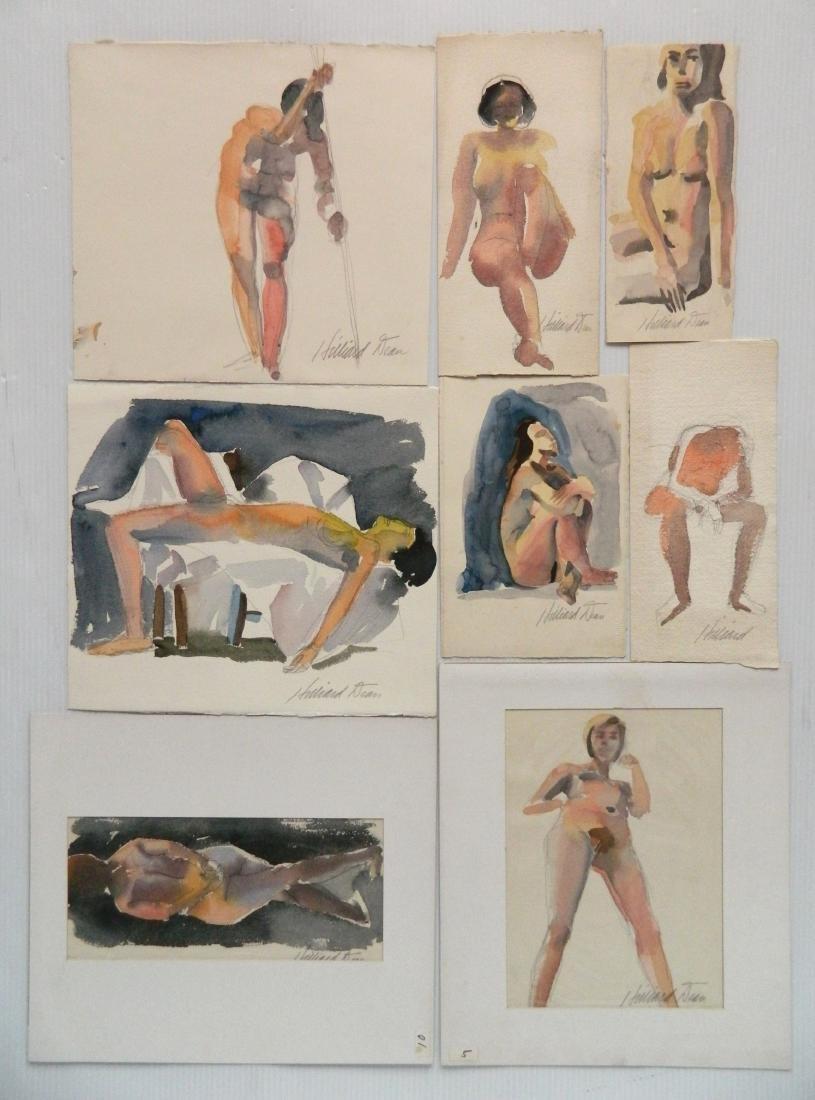 Hilliard Dean 8 watercolors