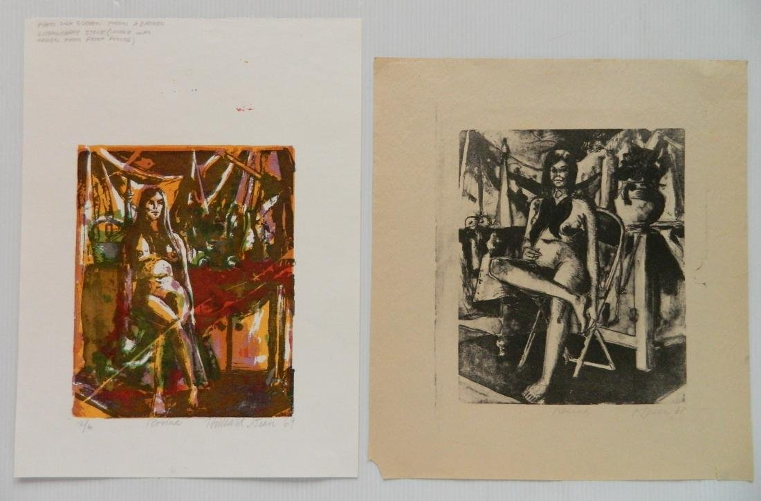 Hilliard Dean 4 lithographs and 2 woodcuts - 2