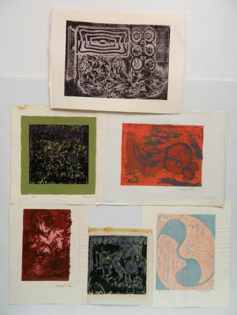 Hilliard Dean 6 woodcuts