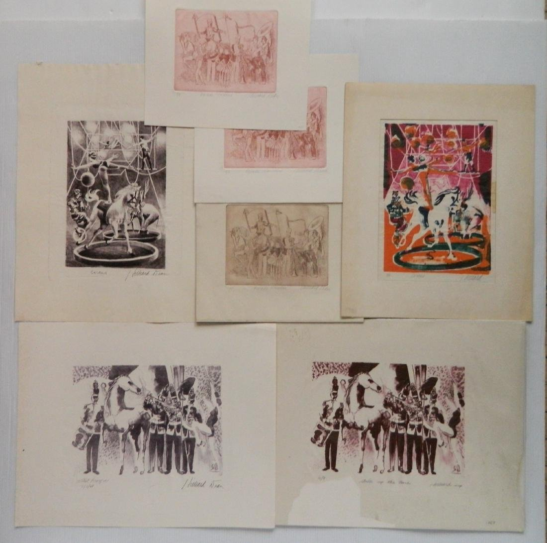 Hilliard Dean 4 lithographs and 3 etchings