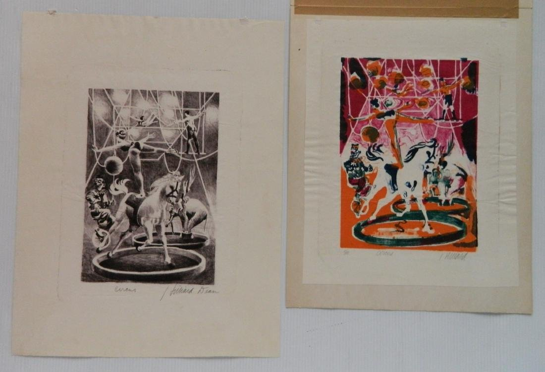 Hilliard Dean 4 lithographs and 3 etchings - 3