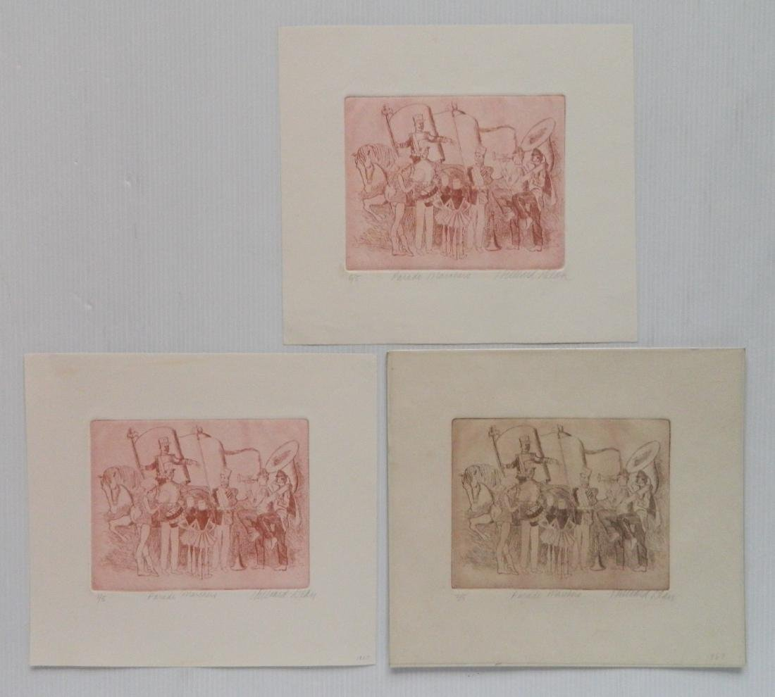 Hilliard Dean 4 lithographs and 3 etchings - 6