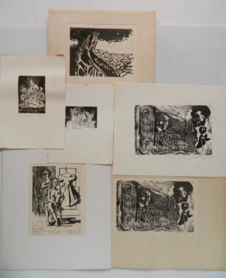 Hilliard Dean 4 linocuts and 2 lithographs