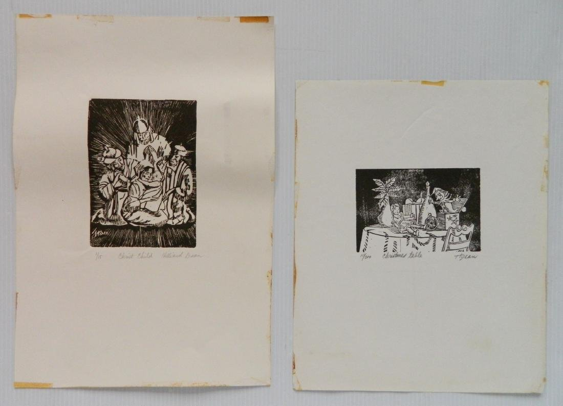Hilliard Dean 4 linocuts and 2 lithographs - 6