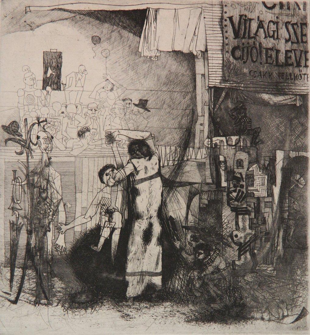 Bela Kondor etching