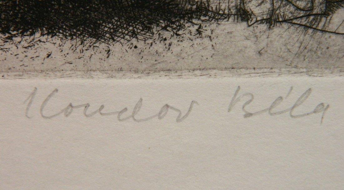 Bela Kondor etching - 3