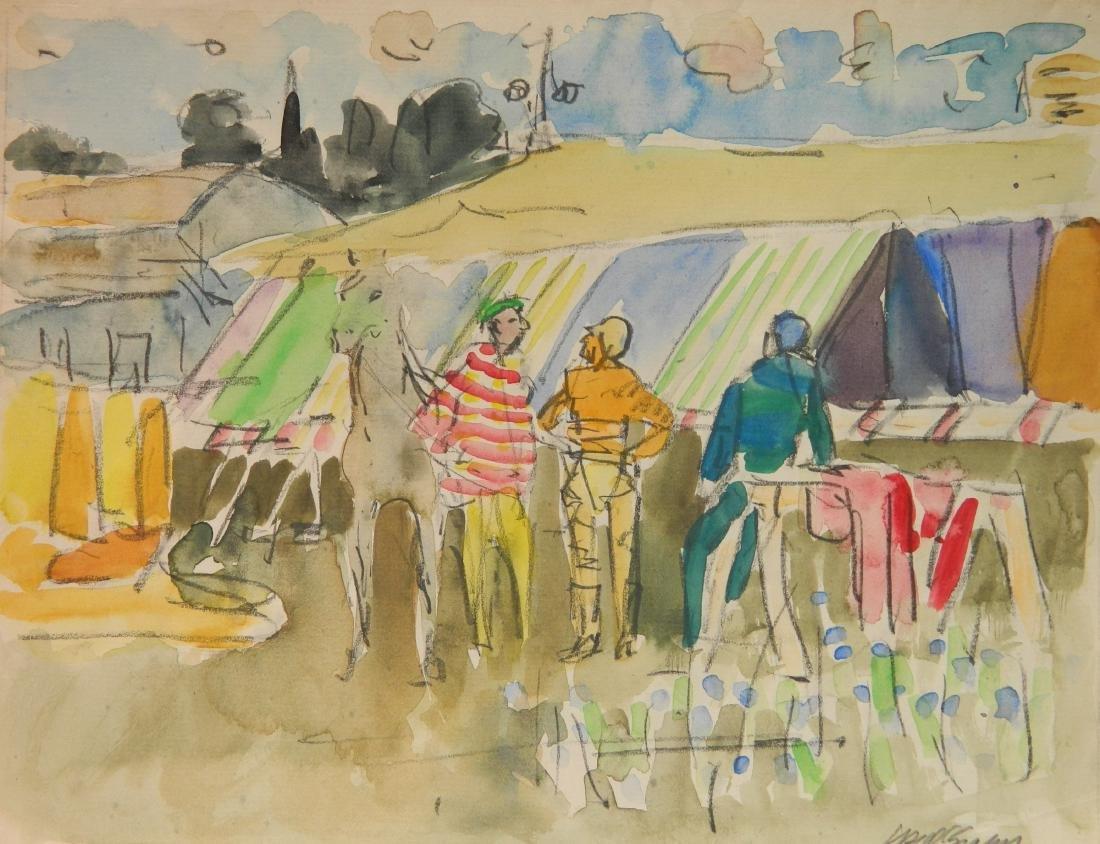 Joseph B. O'Sickey watercolor and graphite