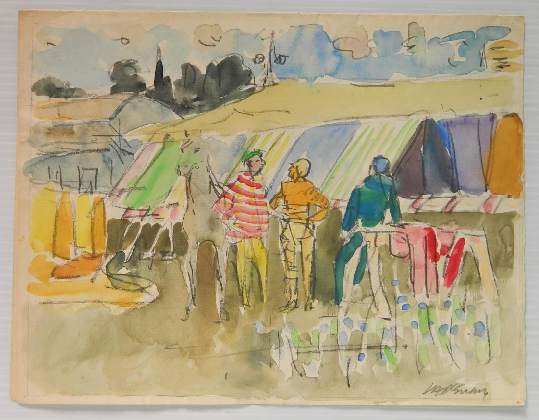 Joseph B. O'Sickey watercolor and graphite - 2