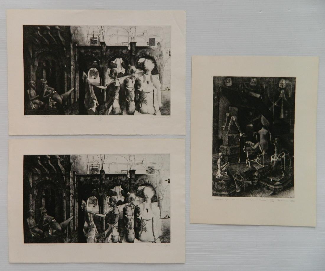 3 Ihor Podolchak etching and aquatint