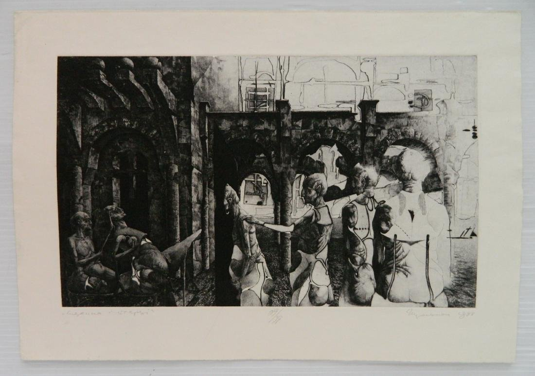 3 Ihor Podolchak etching and aquatint - 3