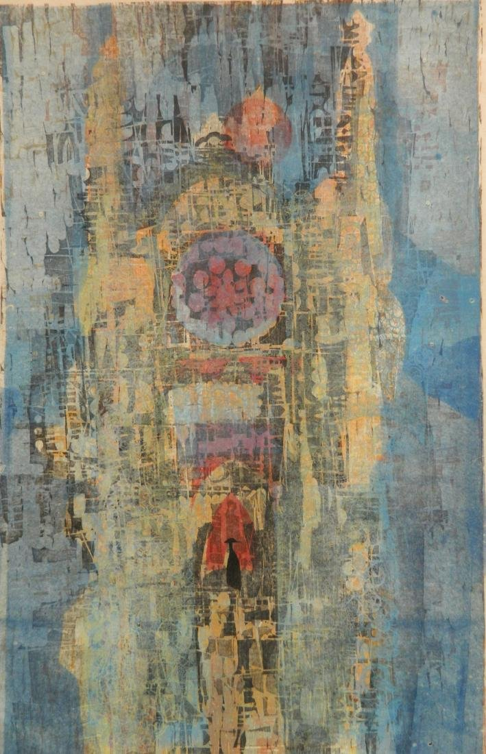 2 Mel Silverman woodcuts - 2