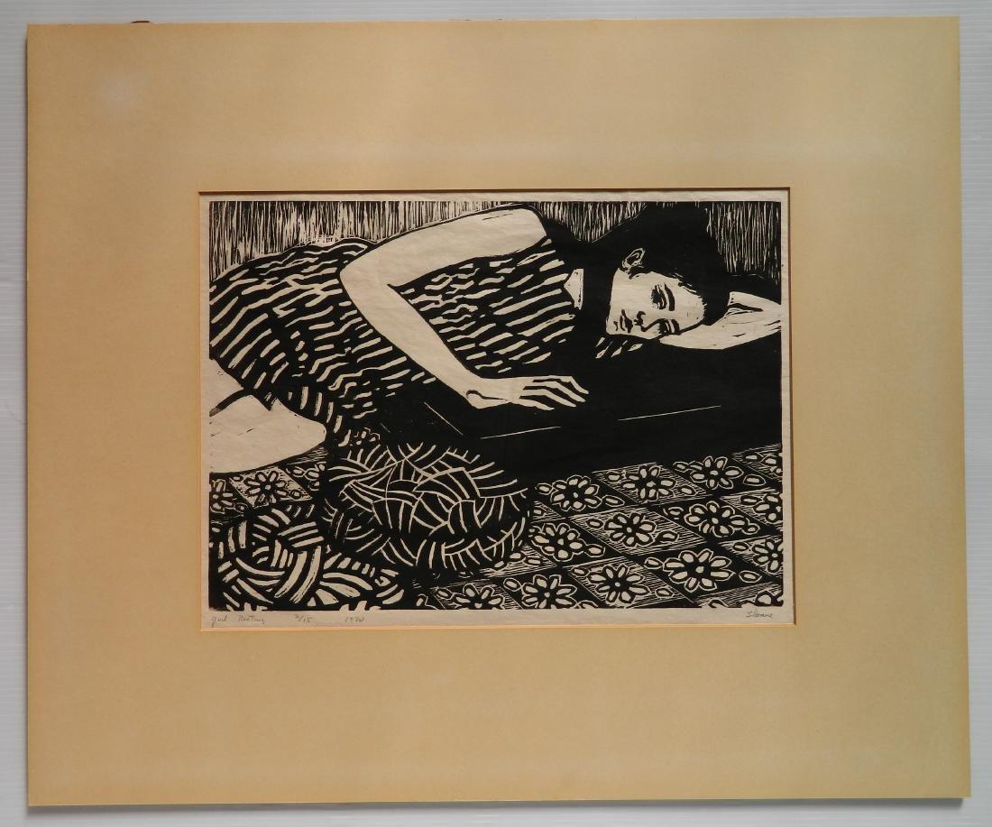 Phyllis Sloane linocut - 2