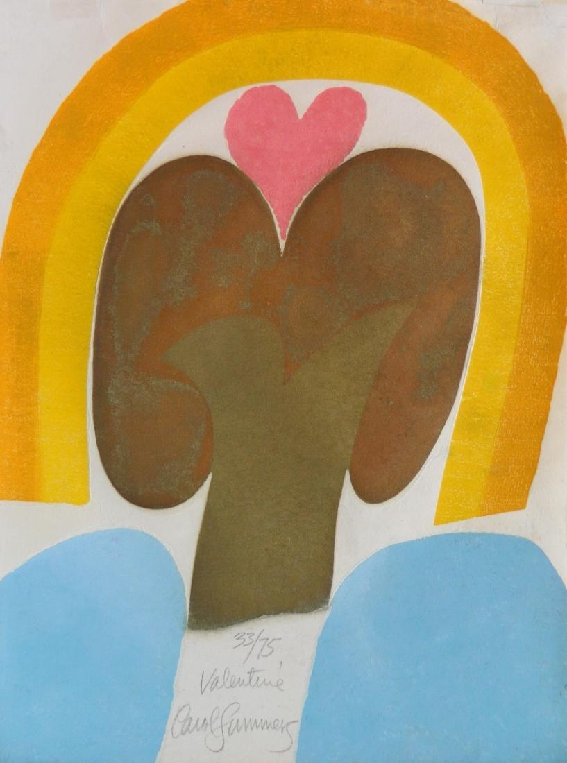Carol Summers woodcut