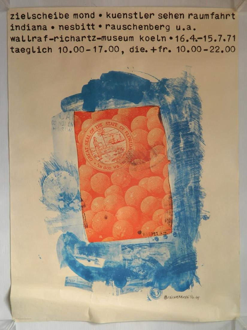 after T. Yokoo; R. Rauschenberg - 3 posters - 2