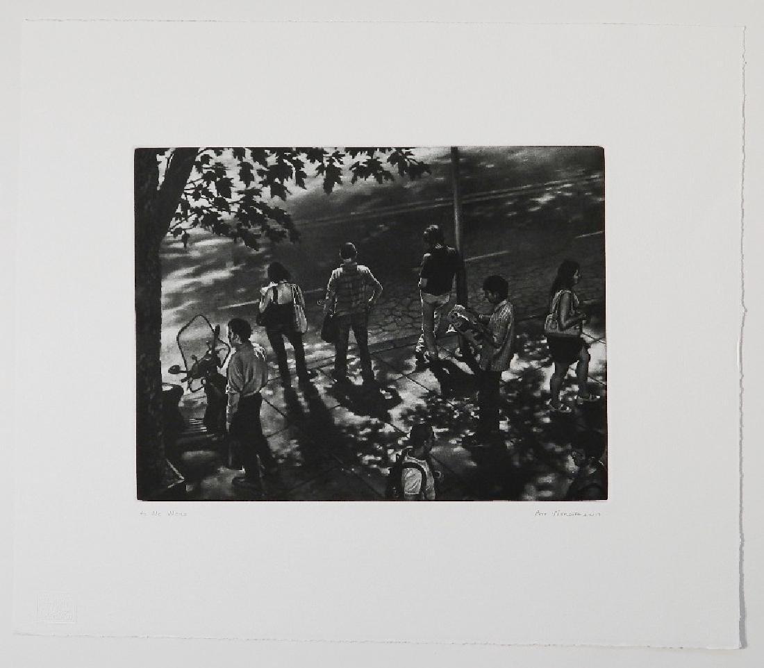 Art Werger mezzotint - 2