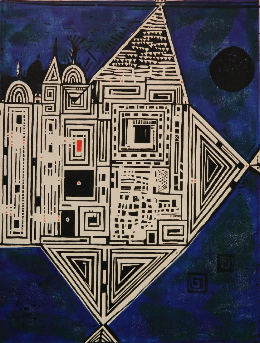 Stanislaw Wojtowicz woodcut
