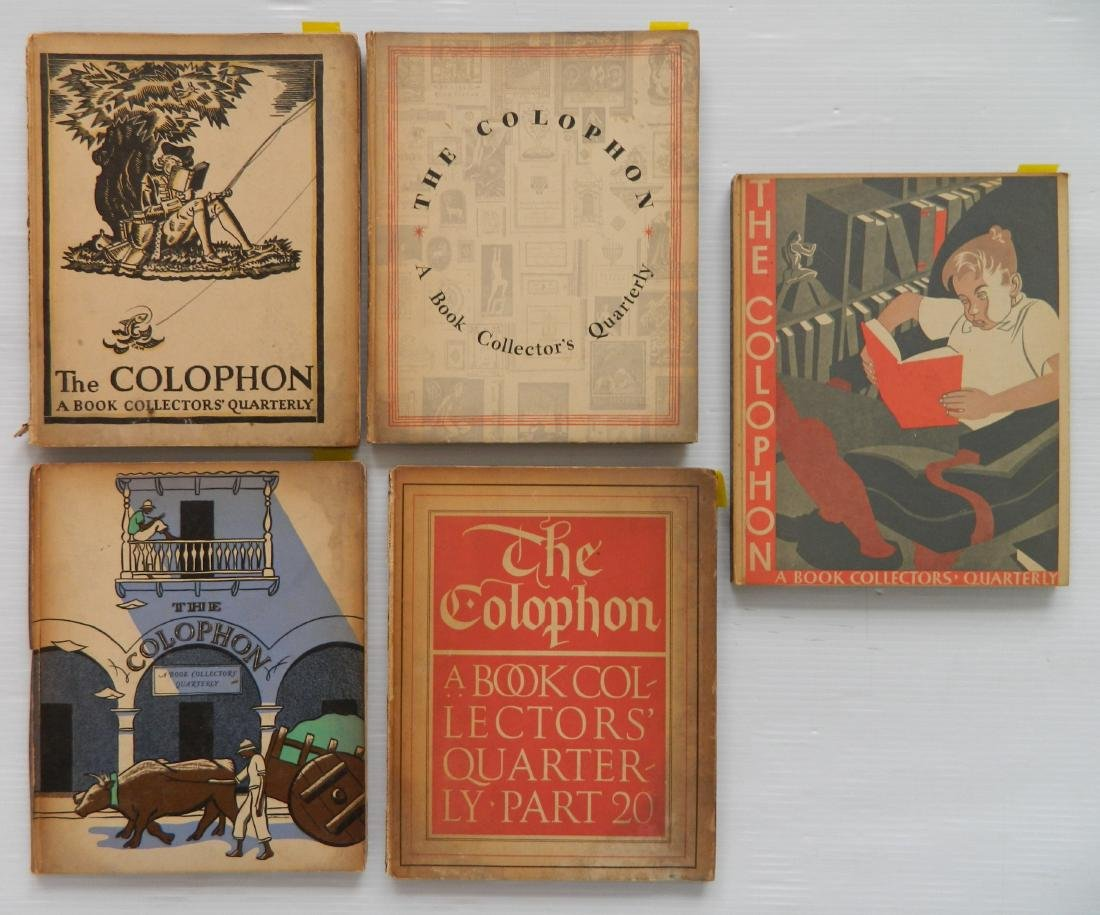 The Colophons, 5 vols.