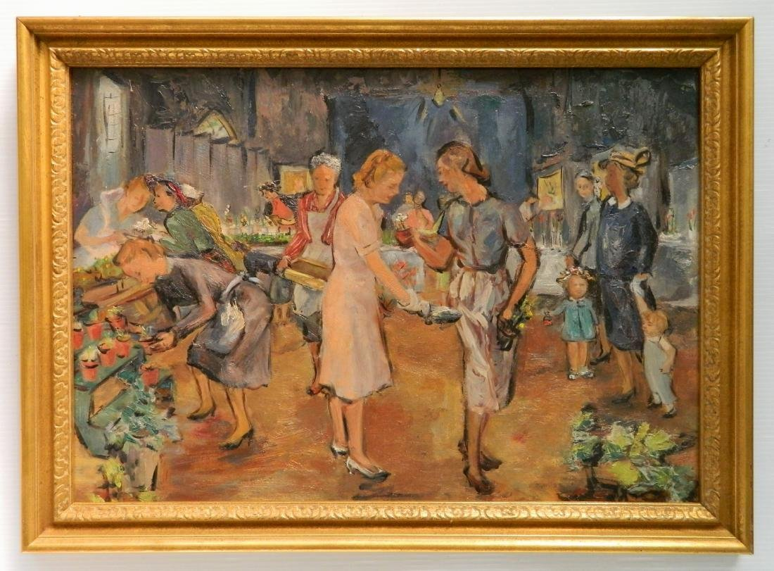 20th c. American School oil