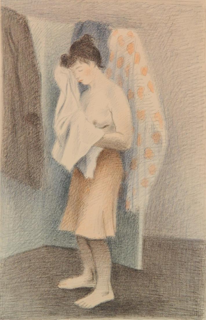Raphael Soyer lithograph