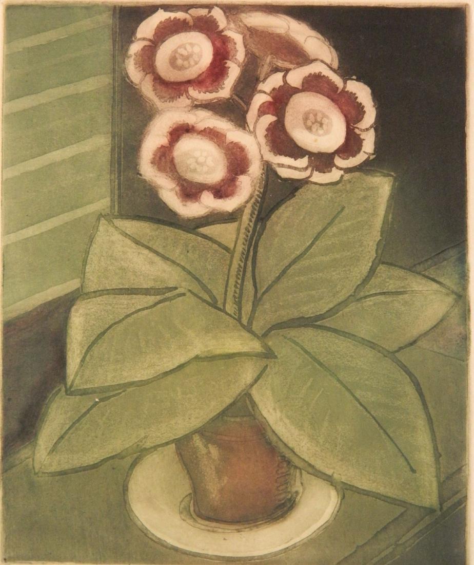 Elsa Vick Shaw etching
