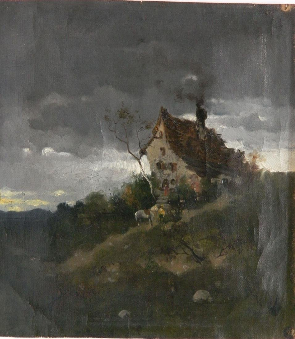 19th c. German School oil
