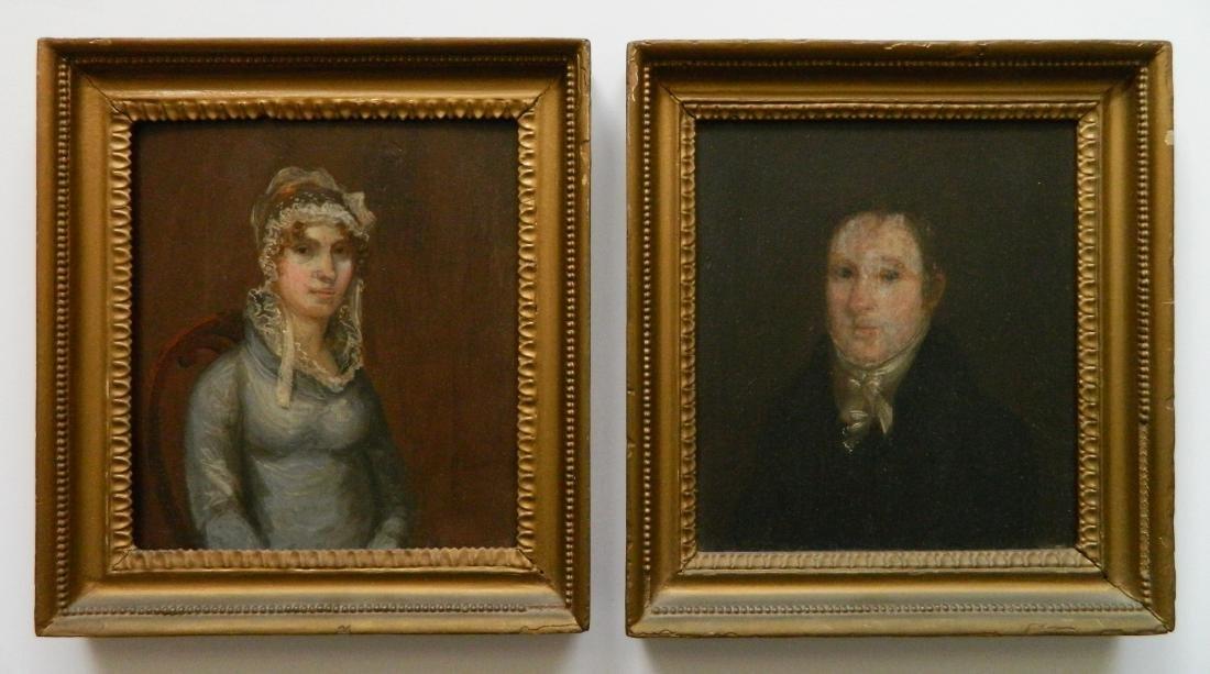 Pair of 18th c. American Portraits