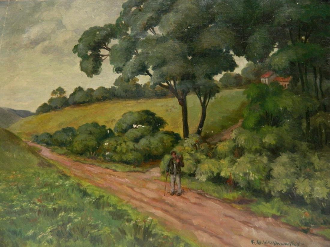 Abel G. Warshawsky oil