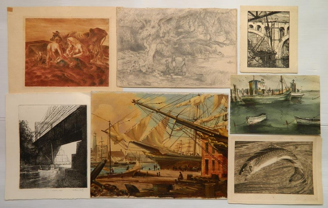 Miscellaneous drawings, prints and paintings