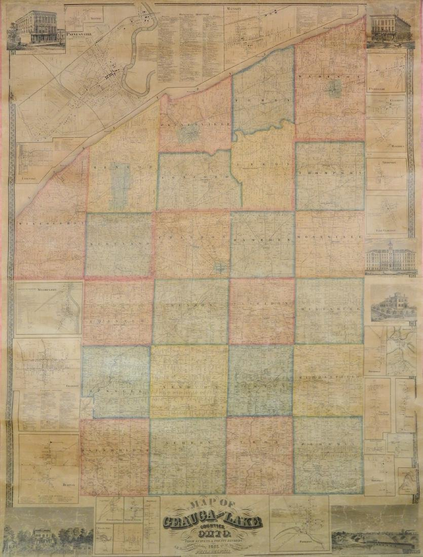 S. H. Mathews Map of Geauga and Lake Counties