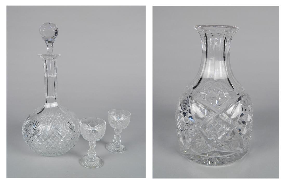 American Cut Glass 2 decanters