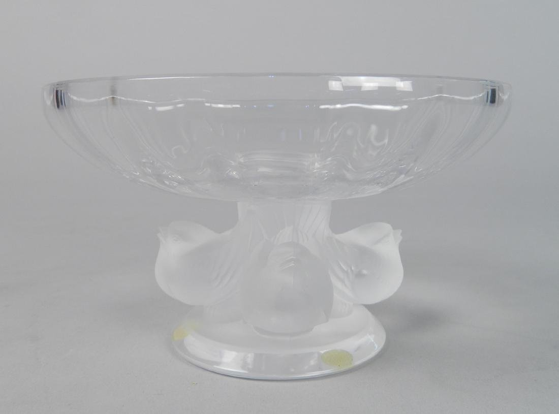 Lalique crystal bird bowl