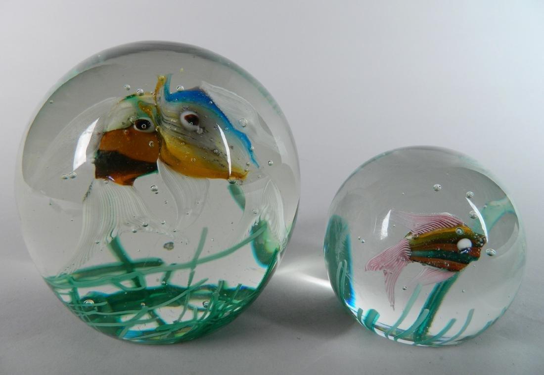 2 Murano Glass aquarium paperweights