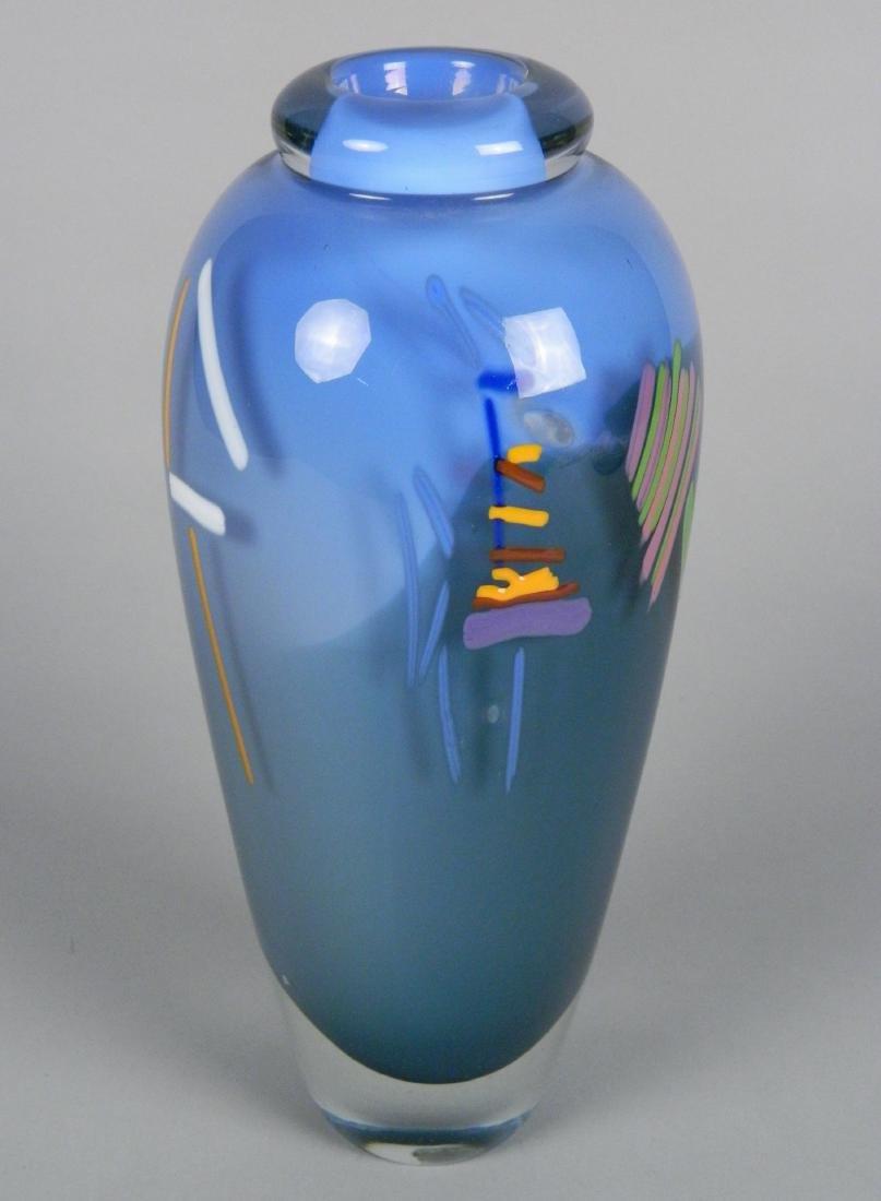 20th c. American Studio glass vase