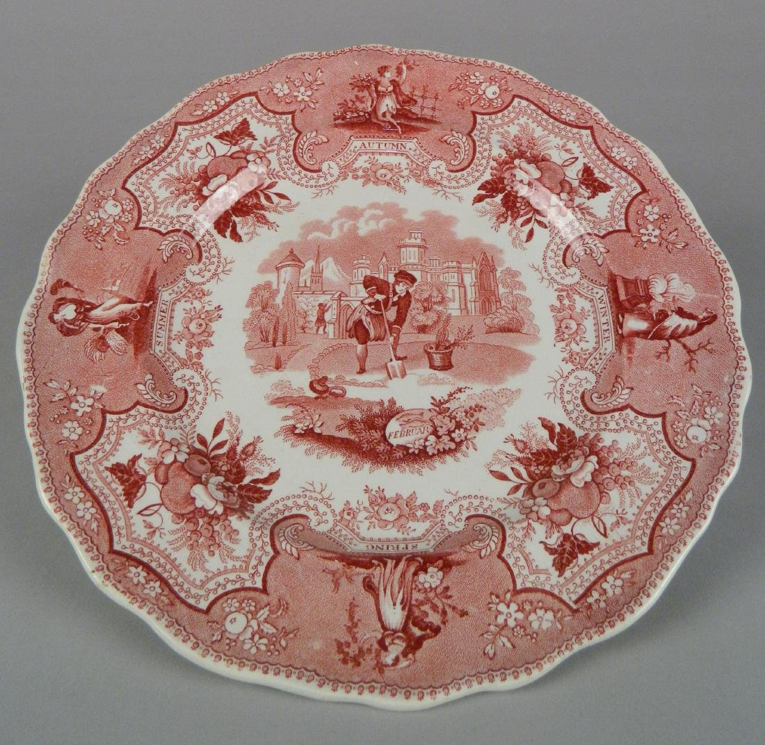 4 British Transfer china plates - 9