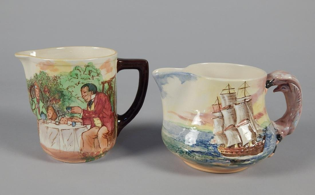 2 Royal Doulton porcelain pitchers