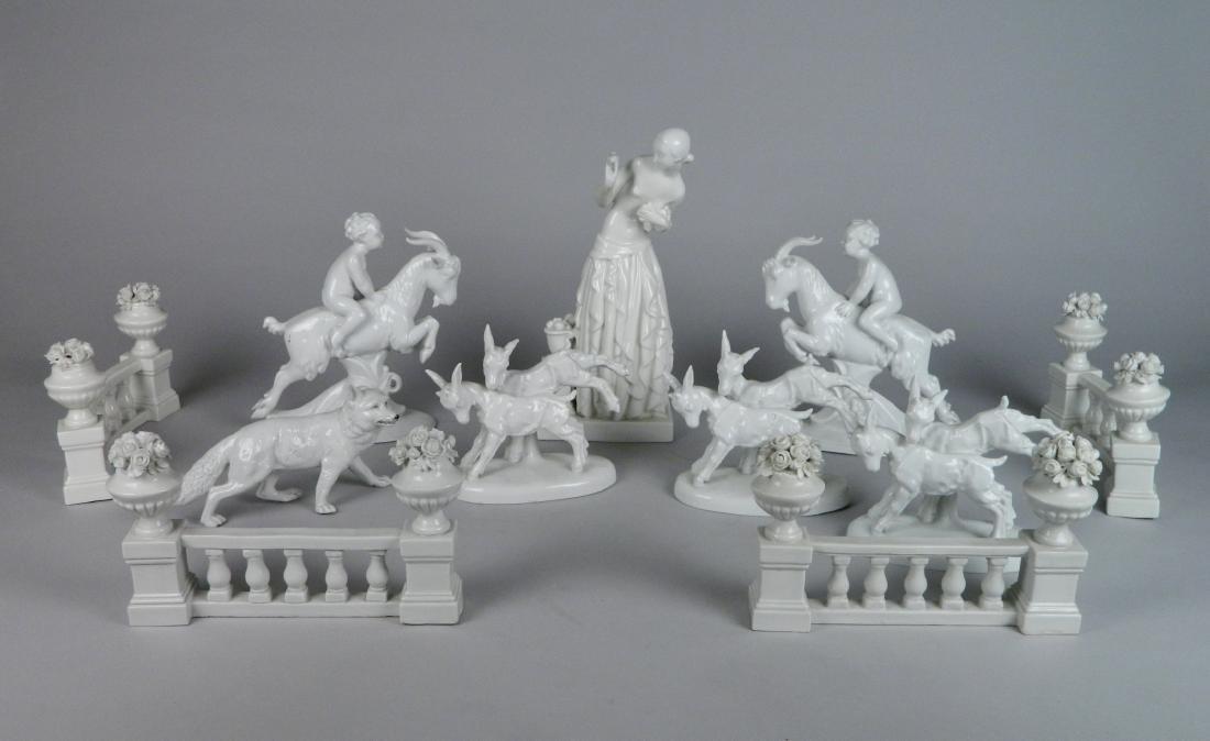 11 Piece German porcelain centerpiece