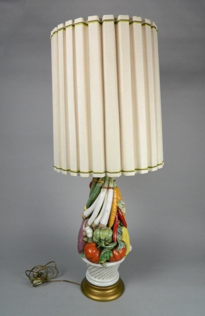 Marbro glazed polychrome ceramic lamp