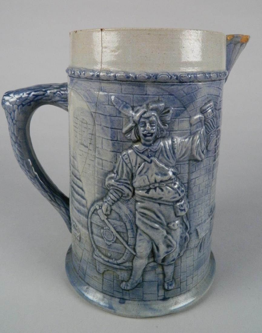 Flemish style stoneware jug