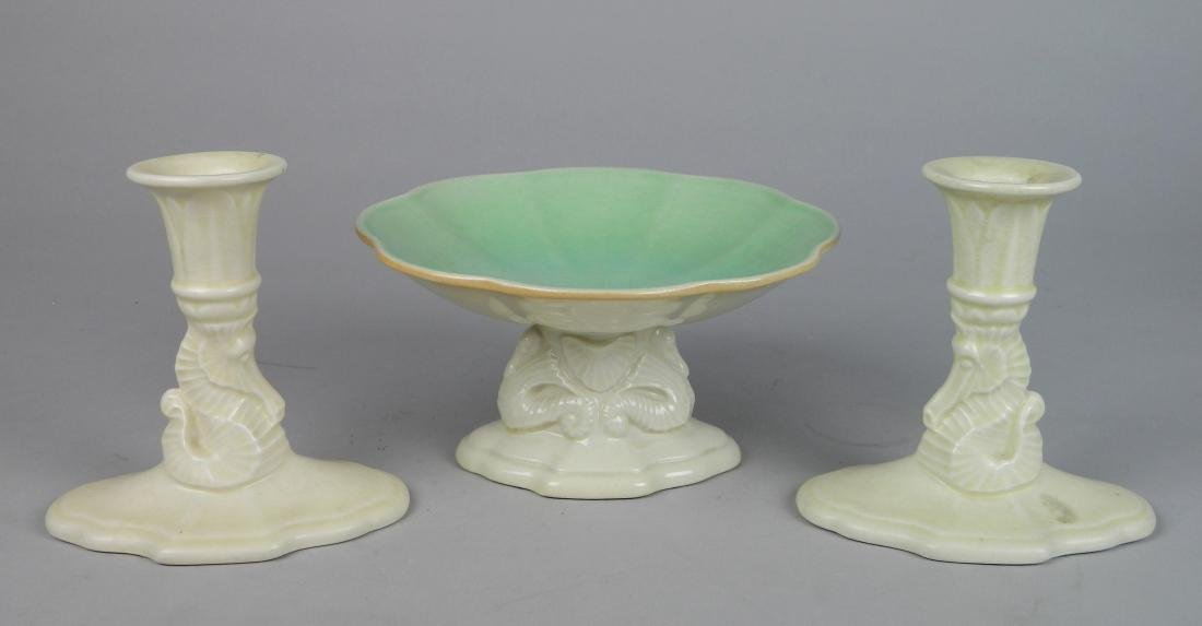 Cowan pottery console set