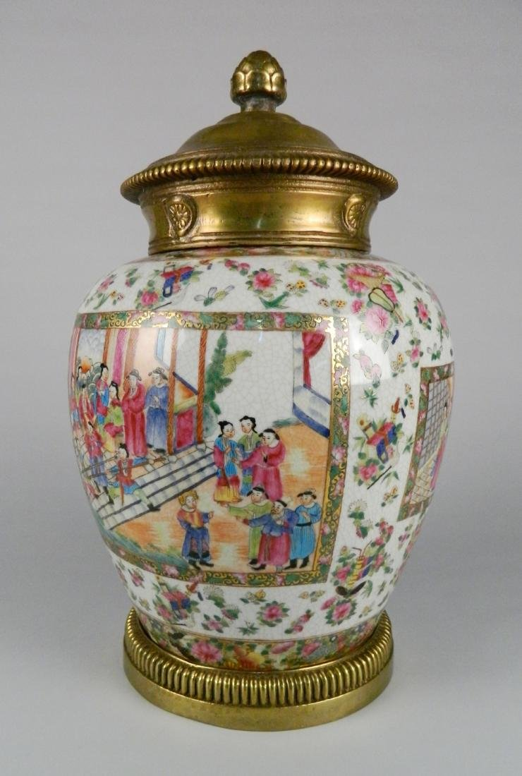 Chinese Rose Medallion urn