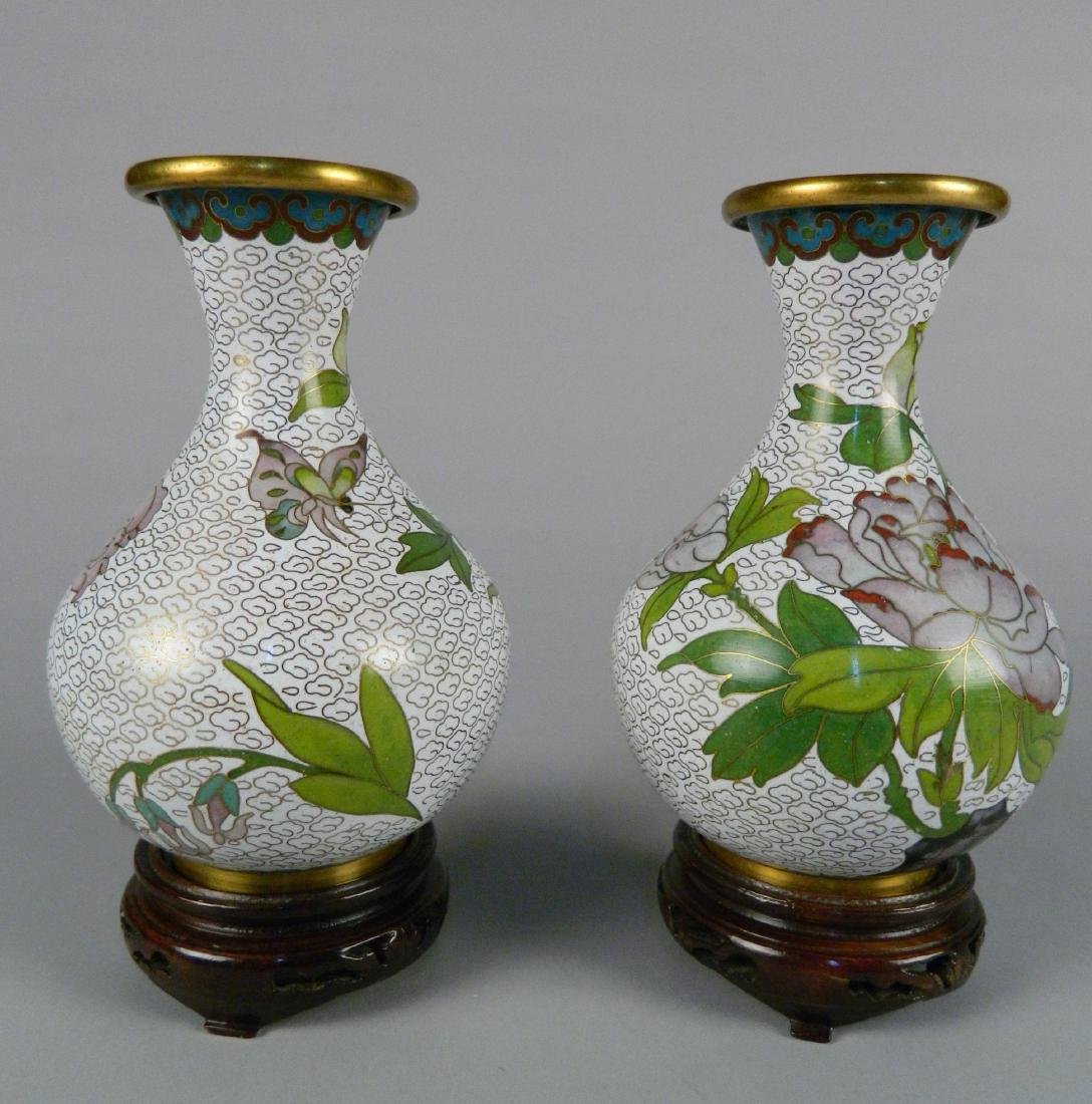 Pair of Cloisonne vase