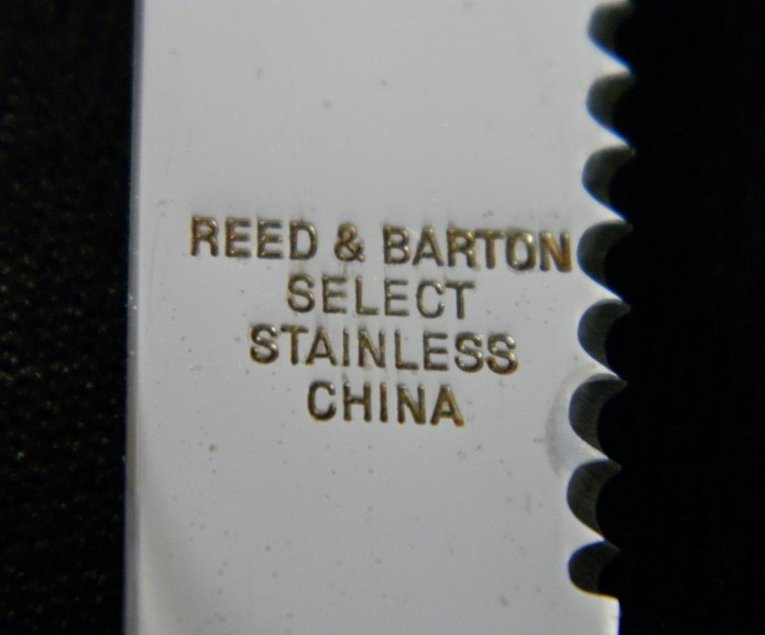 Reed and Barton stainless flatware set - 7