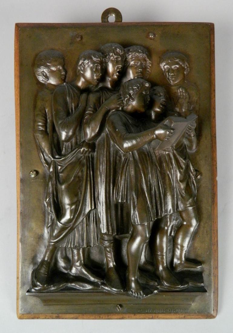 after Luca Della Robbia bronze plaque