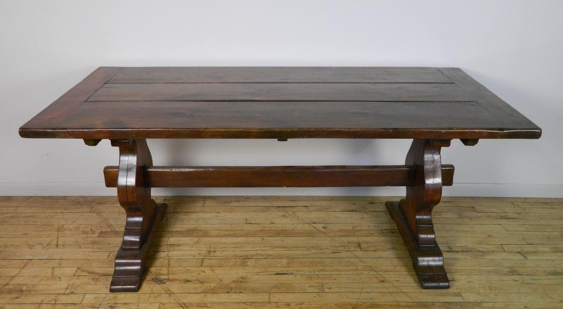 Pine trestle table